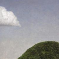 葉子奇,紗帽山與雲的對話,2012-2013,卵彩‧油畫/亞麻布,101.6 x 152.4 cm