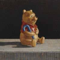 葉子奇,小熊維尼,1997-2013,卵彩・油畫/亞麻布,25.5 x 30.5 cm