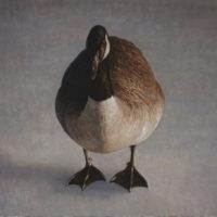 葉子奇,孤雁,2002-2013,卵彩・油畫/亞麻布,96.5 x 117 cm