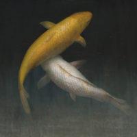 葉子奇,雙魚I,2002-2013,卵彩‧油畫/亞麻布,76.5 x 102 cm