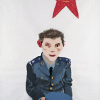 王玉平,八一,2006,壓克力顏料、油畫棒/畫布,150 × 120 cm