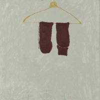 王玉平,在台北,2012,壓克力顏料、油畫棒/畫布,80 × 60 cm