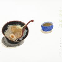 王玉平,沾麵,2012,水彩/紙,23 × 31 cm