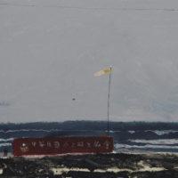 王玉平,海邊寫生,2012,壓克力顏料、油畫棒/畫布,60 × 80 cm