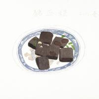 王玉平,豬血糕,2012,水彩/紙,23 × 31 cm