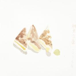 王玉平,鱈魚豆腐,2012,水彩/紙,23 × 31 cm