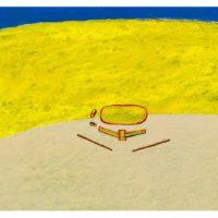 蘇旺伸,操場,1988,綜合媒材/紙板,22.5 x 32 cm