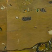 蘇旺伸,散步的路徑,2012,油彩/畫布,190 x 150 cm; 190 x 286 cm, Set of 2