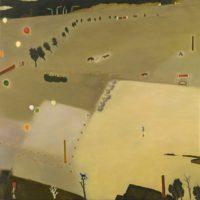 蘇旺伸,臨時停車場,2012,油彩/畫布,195 x 195 cm