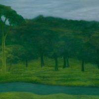 林煒翔,遊蹤 (十六),2012,油彩/畫布,100 x 180 cm