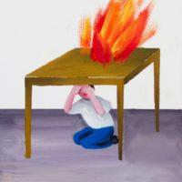 黃海欣,家庭練習 #3,2012,油彩/畫布,51 x 41 cm