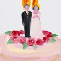 黃海欣,一頭熱,2012,油彩/畫布,35.5 x 28 cm