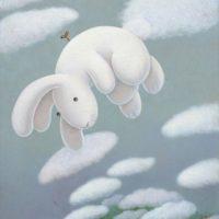 黃本蕊,飛行課程第一課-別忘了上發條,2011,壓克力顏料/畫布,61 x 51 cm