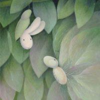 黃本蕊,繭居,2011,壓克力顏料/畫布,61 x 51 cm
