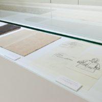 徐冰,《英文方塊字書法入門》設計稿,1999,墨/紙,21.7 x 19.2 cm, 26.9 x 39 cm, 27 x 19.2 (Set of 3)