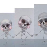 郭淳,牽,2011,油彩/畫布,200 x 100 cm, 180 x 90 cm,  162 x 81 cm, 146 x 73 cm, 132 x 66 cm, 118 x 59 cm (Set of 6)