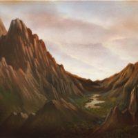 江秋,風景 2009-4,2009,油彩/畫布,100 x 130 cm