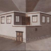 江秋,空間 2010-3,2010,油彩/畫布,31 x 41 cm