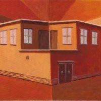 江秋,空間 2010-4,2010,油彩/畫布,31 x 41 cm