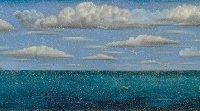 江秋,風景 2011-3 (龜山島),2011,油彩/畫布,123 x 725 cm