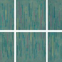 吳東龍,彩色線條-05.,2010,油彩/畫布,90 x 90 cm/each (Set of 6)