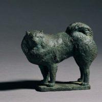 陳夏雨,狗,1959,銅,14 x 17 x 9 cm