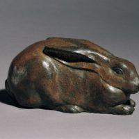 陳夏雨,兔,1946,銅,11 x 23 x 10 cm