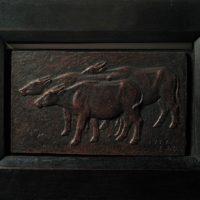 陳夏雨,三牛浮雕,1957,銅,13.7 x 23.3 x 2 cm