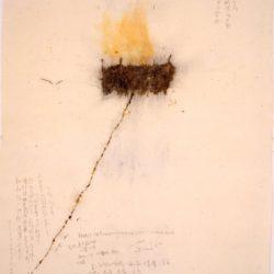 蔡國強,人類的家:為外星人作的計劃第一號,1989,火藥、紙漿,212.8 x 154.3 cm