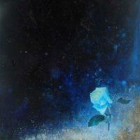 司徒強,藍舍利,2009,壓克力顏料/ 麻布,106.7 x 54.4 cm