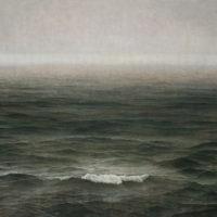 葉子奇,颱風前的海,2007-2009,卵彩‧油畫/亞麻布,200 x 300 cm