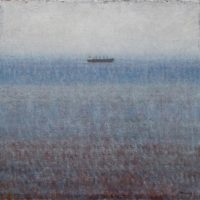 葉子奇,霧笛 ‧ 十月,2007-2009,卵彩‧油畫/亞麻布,30.5 x 30.5 cm