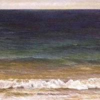葉子奇,海的嘆息(II),2007-2008,卵彩‧油畫/亞麻布,132 x 203 cm