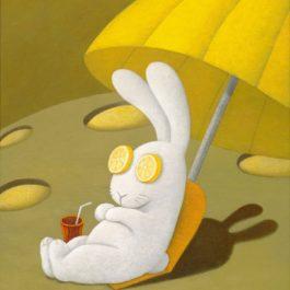 黃本蕊,這兒可是做日光浴的好地方!2010,壓克力顏料/畫布,50.8 x 40.6 cm