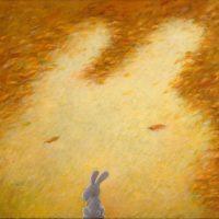 黃本蕊,橘色!我的最愛!,2010,壓克力顏料/畫布,40.6 x 50.8 cm