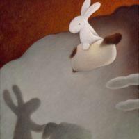 黃本蕊,我們即將起飛,影子們,再會了!,2010,壓克力顏料/畫布,61 x 50.8 cm
