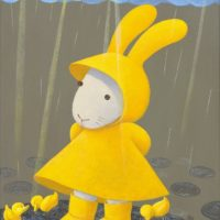 黃本蕊,雨天變奏曲-欸!請您別介意咱們這些塑膠小鴨子!,2010,壓克力顏料/畫布,50.8 x 40.6 cm