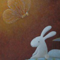 黃本蕊,夢蝶,2009,壓克力顏料/畫布,51 x 40.5 cm