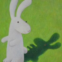 黃本蕊,如影隨形,2009,壓克力顏料/畫布,51 x 40.5 cm