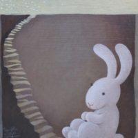 黃本蕊,等待春天使者的來臨,2009,壓克力顏料/畫布,51 x 40.5 cm