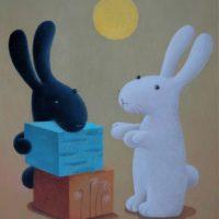 黃本蕊,我給你帶了太陽來,2009,壓克力顏料/畫布,51 x 40.5 cm