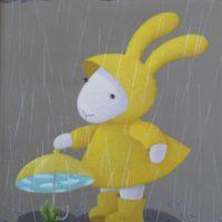 黃本蕊,雨天變奏曲-仙人掌篇,2009,壓克力顏料/畫布,51 x 40.5 cm