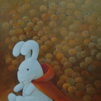 黃本蕊,迷失了?連連看吧!,2009,壓克力顏料/畫布,51 x 40.5 cm