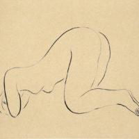 常玉,裸女,1920–30s,水墨、紙本,21.5 x 27 cm