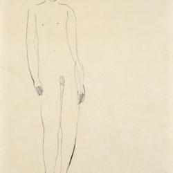 常玉,裸男,1920–30s,水墨、紙本,29 x 23 cm