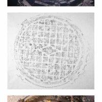 """黃海昌,揭:伏爾加-烏拉爾軍區總部(56°50'28.9""""N 60°37'27.4""""E),2015,攝影/蠟拓印於宣紙上,73 x 83 cm(Set of 3), 2 Ed."""