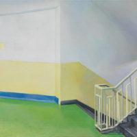 陸亮,停留,2018,油彩/畫布,50 x 60.5 cm