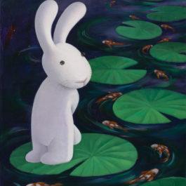 黃本蕊,自在無為,2017,壓克力顏料/畫布,61 x 51 cm