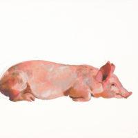 劉小東,趴,2009,石版畫/紙,57 x 76 cm