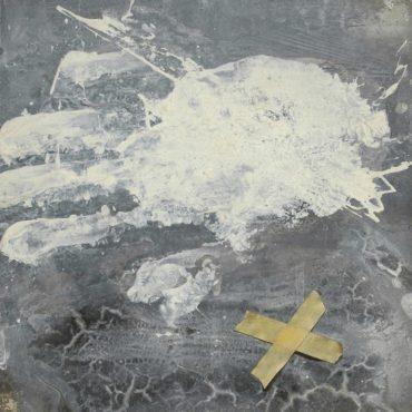 司徒強,試一,1994,壓克力顏料/紙板,27 x 24 cm